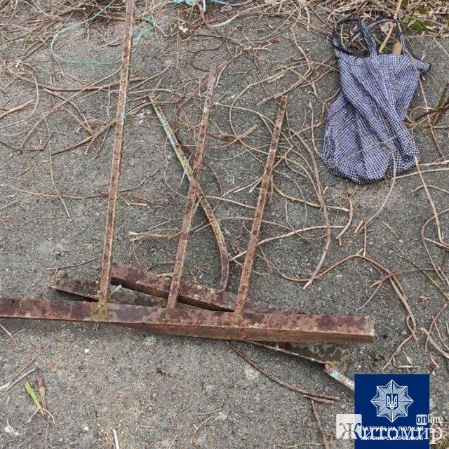 У Житомирі невідомі особи з території дитячого садка виносили метал. ФОТО