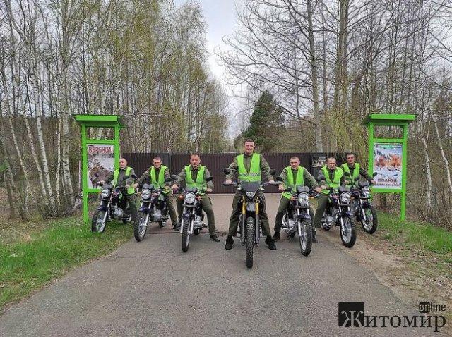 Житомирські лісівники на байках патрулюватимуть ліси. ФОТО