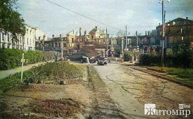 На центральному майдані Житомира у 1941 році були могили німецьких солдат. ФОТО
