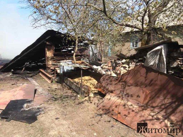 За добу вогнеборці ліквідували п'ять загорянь господарчих будівель в Житомирській області. ФОТО