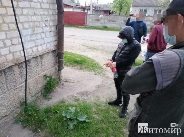 """На Житомирщині затримали чоловіка, який робить """"закладки"""" в різних містах України. ФОТО"""
