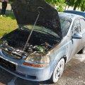 У Коростені на ходу загорівся Chevrolet. ФОТО