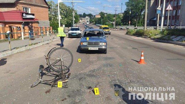 У Коростені 82-річний водій збив велосипедистку. ФОТО