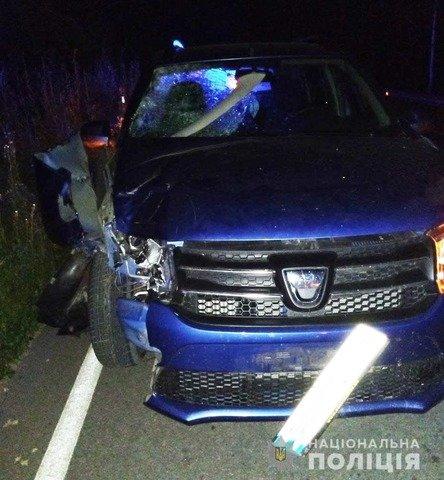 Під Хорошевом водій збив пішохода, що рухався узбіччям. ФОТО
