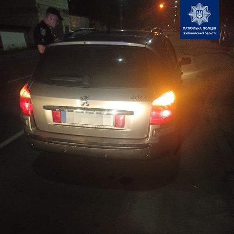 У Житомирі затримали п'яного водія-порушника. ФОТО