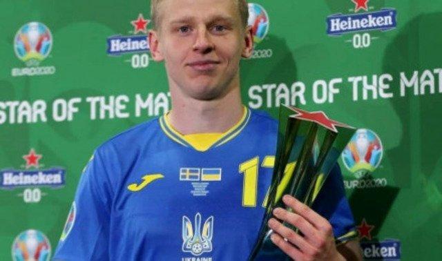 Уродженець Радомишля Олександр Зінченко став найкращим гравцем матчу зі Швецією