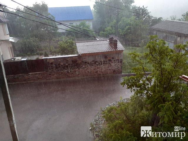В одному з мікрорайонів Житомира через грім зникло світло. ФОТО