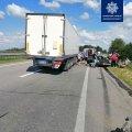 Неподалік Житомира вантажівка зіштовхнулась з легковим автомобілем, є травмований. ФОТО