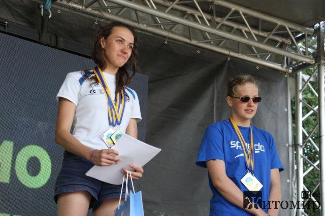 У Житомирі визначили переможців чемпіонату з плавання на відкритій воді. ФОТО