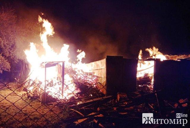 У селі Брусилівського району під час спроби самостійного гасіння пожежі дві людини отримали травми. ФОТО