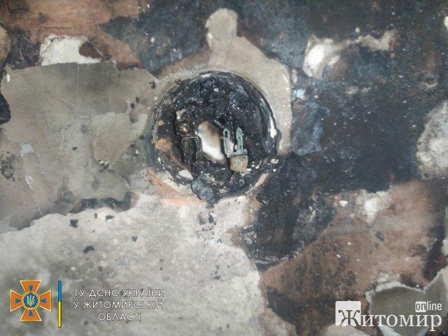 У триповерховому бидинку в Житомирі горіла квартира. ФОТО
