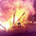 У Коростені під час раптової пожежі в зоні відпочинку постраждали троє людей