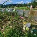 У Новограді-Волинському люди скаржаться на брудний центральний пляж. ФОТО