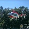 Пораненого на Житомирщині хлопчика гелікоптером відправили у Київ. ФОТО