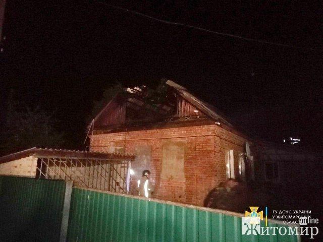 За добу рятувальники Житомирщини ліквідували пожежі у 3 приватних будинках. ФОТО