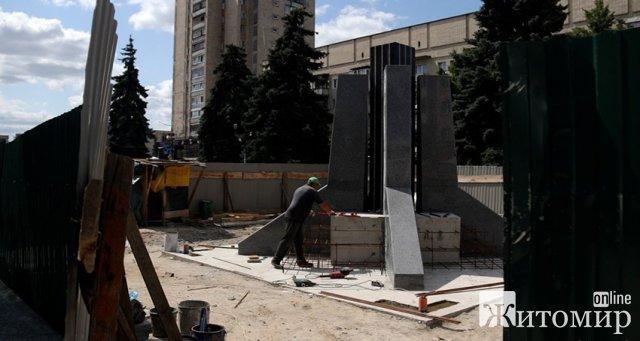 Якими будуть бронзові фігури пам'ятника героям АТО у центрі Житомира