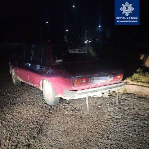 У Житомирському районі затримали п'яного водія ВАЗ. ФОТО