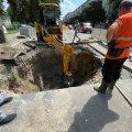 На Східній у Житомирі комунальники вирили величезний котлован. ФОТО
