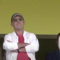 Цікаві люди на трибуні сьогоднішнього матчу на житомирському стадіоні. ФОТО