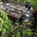 У Житомирському районі Mitsubishi злетів до меліоративного каналу, водія госпіталізували. ФОТО