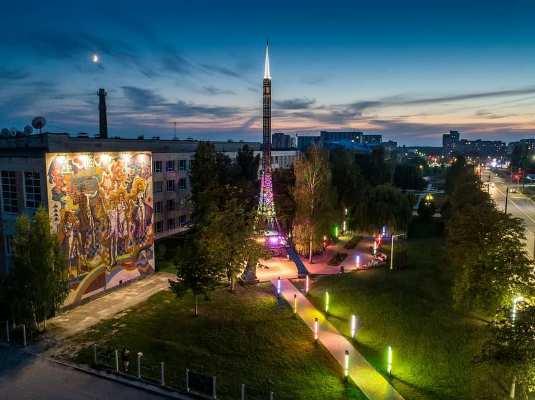 """З'явилося фото Житомирської """"Політехніки"""" увечері з висоти"""