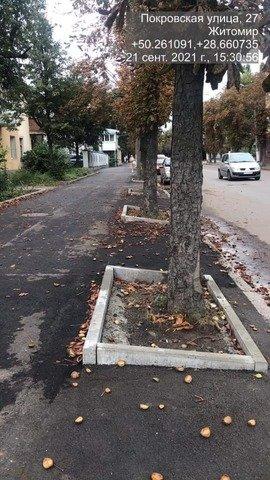 Житомиряни скаржаться на стан тротуарів на Покровській після капітального ремонту. ФОТО