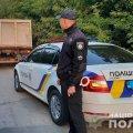 На Коростишівщині затримали вантажівку з нелегальним піском. ФОТО