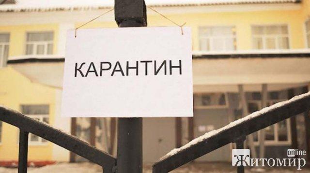 У Житомирській області навчальні заклади закриватимуть на карантин