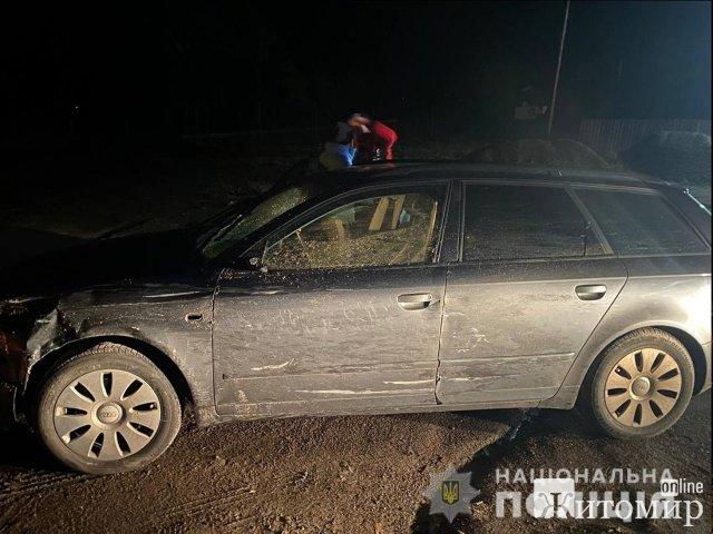 У Житомирській області Audi збила двох жінок: одна померла, іншу госпіталізували до лікарні. ФОТО