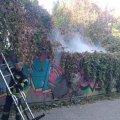 Пожежа за кінотеатром «Україна» в Житомирі. ФОТО